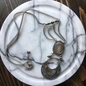 Moon Silver statement necklace